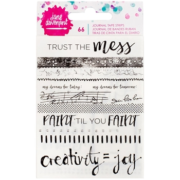 Jane Davenport STRIPS AND PHRASES Journal Tape Strips Mixed Media 376712