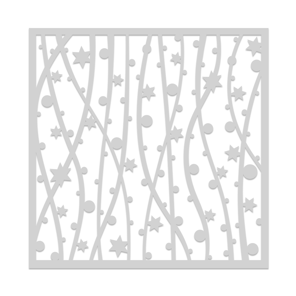 Hero Arts Stencil FESTIVE STAR AND BAUBLE SA109 zoom image