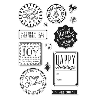 Hero Arts Clear Stamp HOLIDAY BADGES CM214*