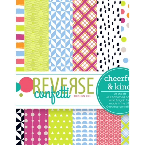 Reverse Confetti CHEERFUL AND KIND 6x6 Inch Paper Pad Preview Image