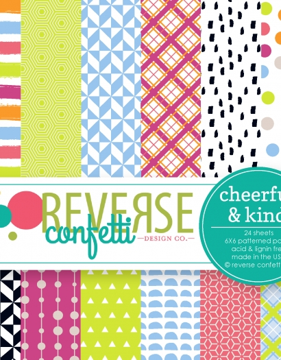Reverse Confetti CHEERFUL AND KIND 6x6 Inch Paper Pad zoom image