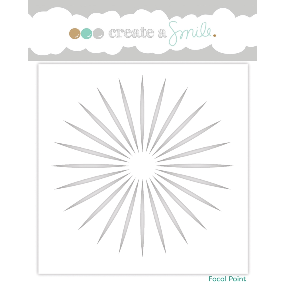 Create A Smile FOCAL POINT Stencil scs23 zoom image