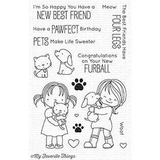 My Favorite Things NEW BEST FRIEND Clear Stamps BB52