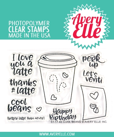Avery Elle Clear Stamps COOL BEANS ST-17-43 Preview Image