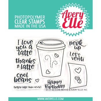 Avery Elle Clear Stamps COOL BEANS ST 17 43