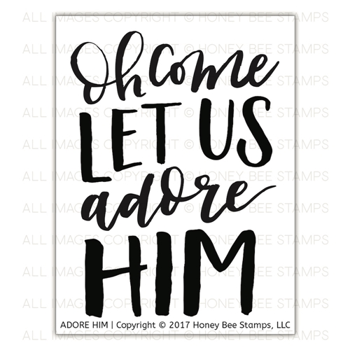 Honey Bee ADORE HIM Clear Stamp Set hbst-094* Preview Image