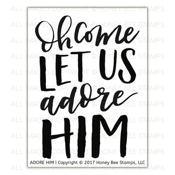 Honey Bee ADORE HIM Clear Stamp Set hbst-094*