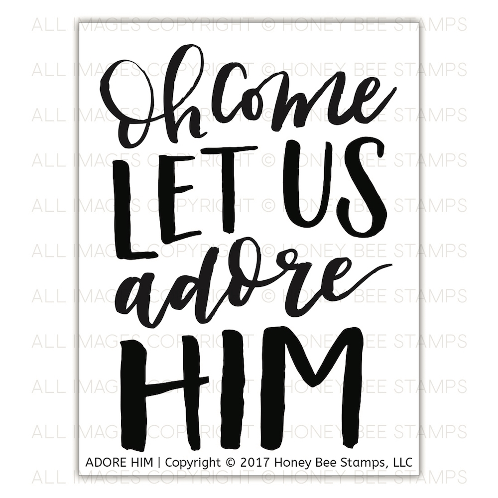 Honey Bee ADORE HIM Clear Stamp Set hbst-094* zoom image