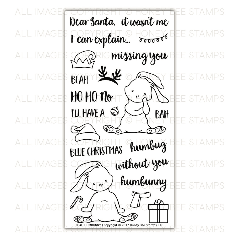 Honey Bee BLAH HUMBUNNY Clear Stamp Set hbst-090* zoom image