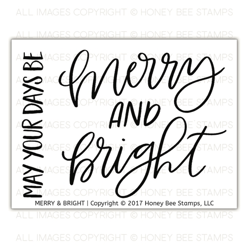 Honey Bee MERRY AND BRIGHT Clear Stamp Set hbst-092 Preview Image