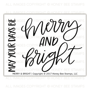 Honey Bee MERRY AND BRIGHT Clear Stamp Set hbst-092
