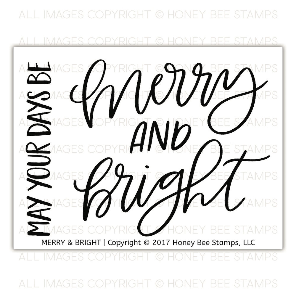 Honey Bee MERRY AND BRIGHT Clear Stamp Set hbst-092 zoom image