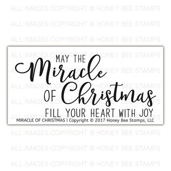 Honey Bee MIRACLE OF CHRISTMAS Clear Stamp Set hbst-093