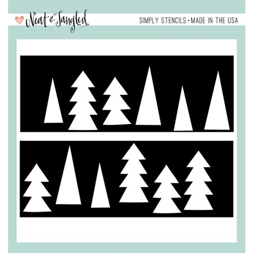 Neat and Tangled TREE DUO Stencil NAT331* Preview Image