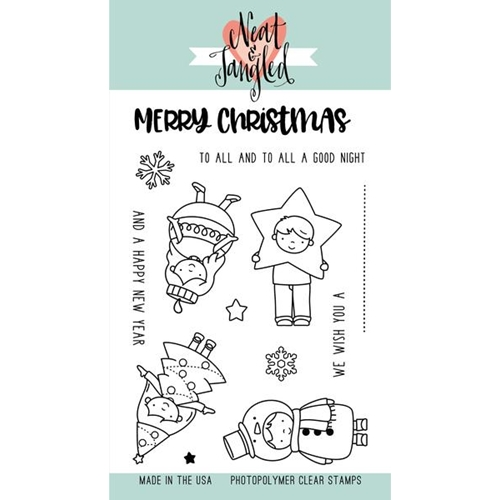 Neat and Tangled CHRISTMAS PAGEANT Clear Stamp Set NAT333* Preview Image
