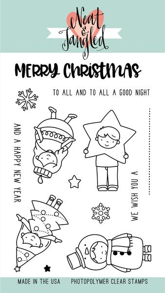 Neat and Tangled CHRISTMAS PAGEANT Clear Stamp Set NAT333* zoom image