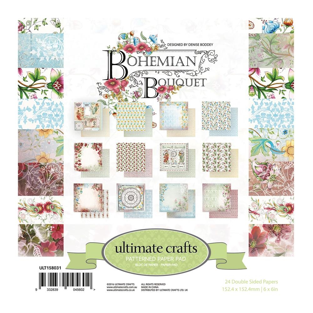 Couture Creations BOHEMIAN BOUQUET 6 x 6 Paper Pad ult158031 zoom image
