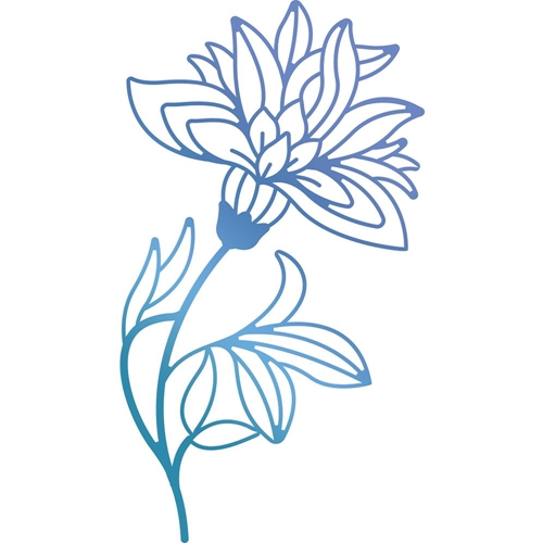 Couture Creations BLOOMING FLOWER Hotfoil Stamp Bohemian Bouquet ult158082 Preview Image