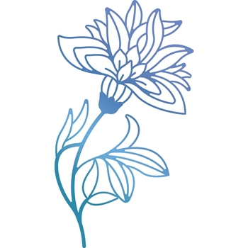 Couture Creations BLOOMING FLOWER Hotfoil Stamp Bohemian Bouquet ult158082