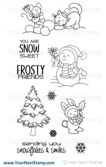 Your Next Stamp FROSTY FRIENDS Clear cyns615* zoom image