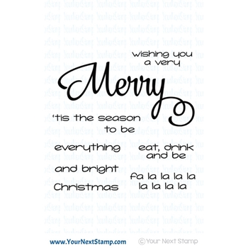 Your Next Stamp MERRY EVERYTHING Clear cyns616