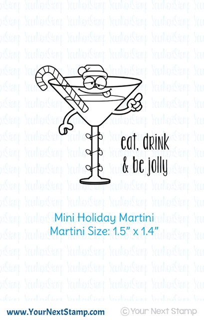Your Next Stamp MINI HOLIDAY MARTINI Clear cyns626 zoom image