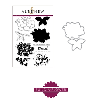 Altenew BUILD A FLOWER GARDENIA Clear Stamp and Die Set ALT5274