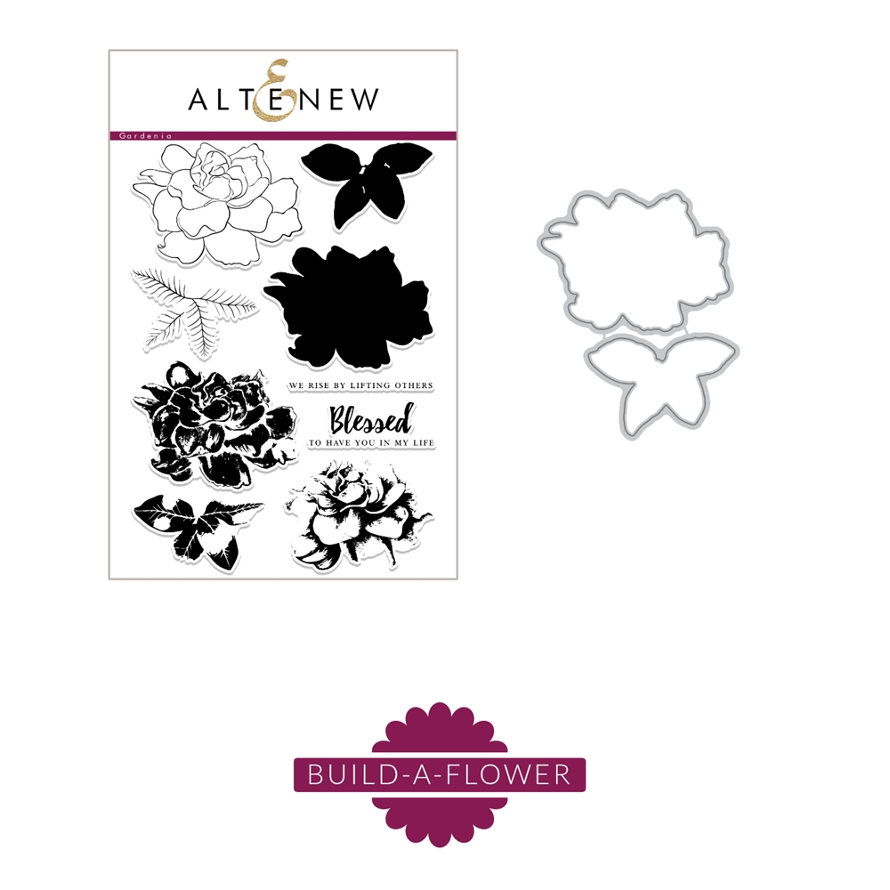 Altenew BUILD A FLOWER GARDENIA Clear Stamp and Die Set ALT5274 zoom image
