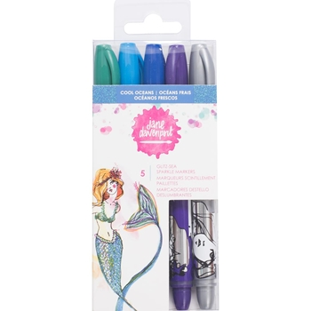 Jane Davenport COOL OCEANS Glitz-Seas Sparkle Markers Mixed Media 2 343546