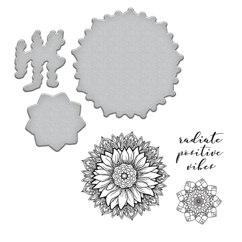SDS-094 Spellbinders SUNFLOWER Stephanie Low Cling Stamp and Die Set* Preview Image