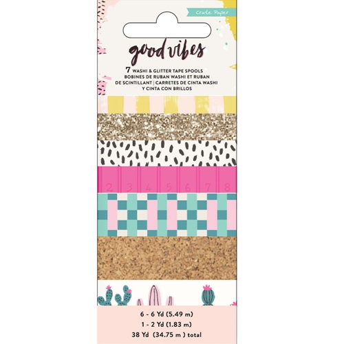 Crate Paper GOOD VIBES Washi Tape 344318* Preview Image