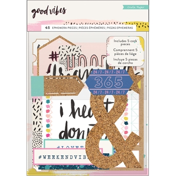 Crate Paper GOOD VIBES Ephemera Pack 344313