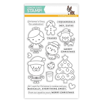 Simon Says Clear Stamps CHRISTMAS SQUAD sss101713