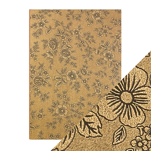 Tonic UMBER ETCHING A4 Embossed Paper Pack 9833e Preview Image