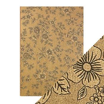 Tonic UMBER ETCHING A4 Embossed Paper Pack 9833e*