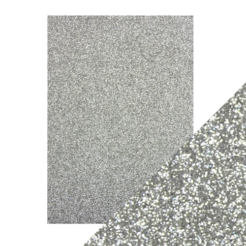 Tonic Silver Screen A4 Glitter Paper