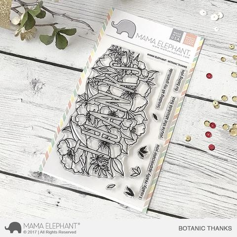 Mama Elephant Clear Stamps BOTANIC THANKS Preview Image
