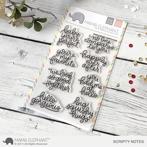 Mama Elephant Clear Stamps SCRIPTY NOTES  Preview Image