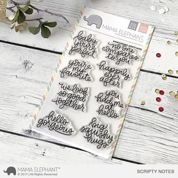 Mama Elephant Clear Stamps SCRIPTY NOTES*