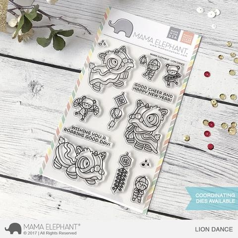 Mama Elephant Clear Stamps LION DANCE  Preview Image