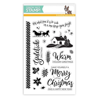 Simon Says Clear Stamps YULETIDE HOLIDAY sss101810 *