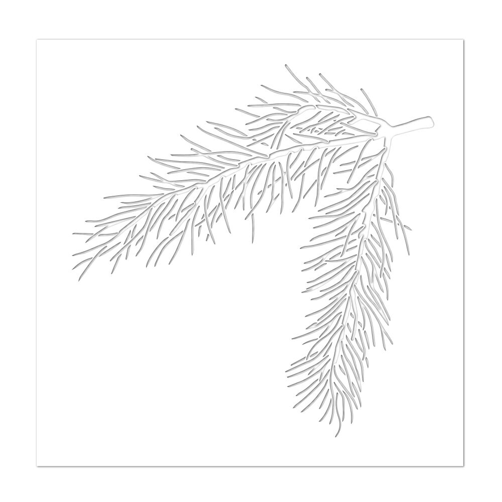 Simon's Exclusive Pine Bough Stencil