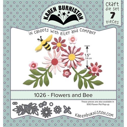 Karen Burniston FLOWERS AND BEE Die Set 1026* Preview Image