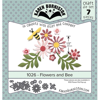 Karen Burniston FLOWERS AND BEE Die Set 1026*