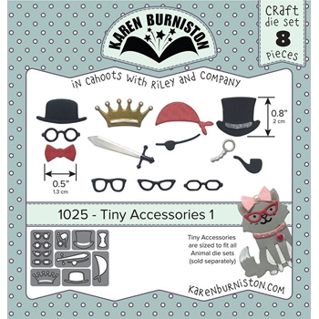 Karen Burniston TINY ACCESSORIES 1 Die Set 1025