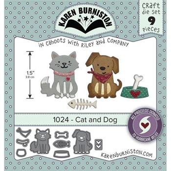 Karen Burniston CAT AND DOG Die Set 1024