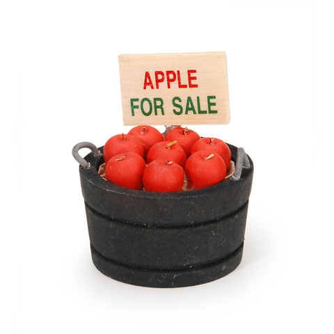 Darice MINI BUCKET OF APPLES Timeless Minis 231626D zoom image