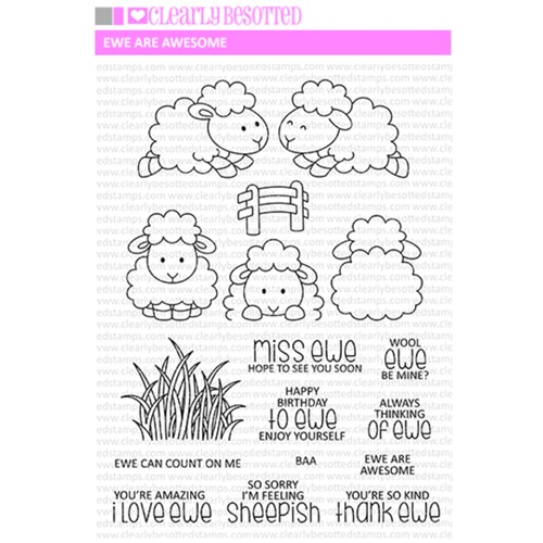Clearly Besotted EWE ARE AWESOME Clear Stamp Set Preview Image