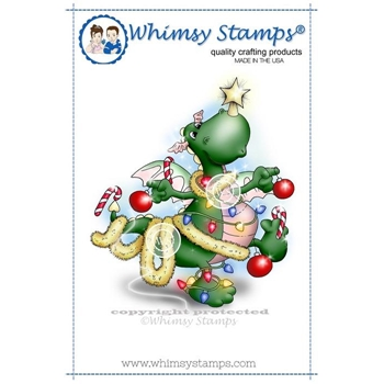 Whimsy Stamps BART LOVES CHRISTMAS Rubber Cling Stamp c1052