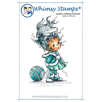 Whimsy Stamps ELEANOR Rubber Cling Stamp szws214*